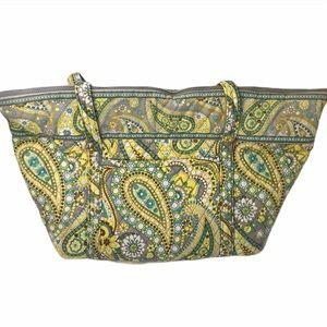 Vera Bradley large yellow paisley tote bag